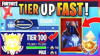 "How To GET FREE TIER 100 ""MAX BATTLE PASS"" IN SEASON 7! - FASTEST WAY TO LEVEL / RANK UP In Fortnite"