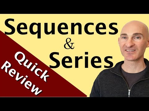 Sequences And Series (Arithmetic & Geometric) Quick Review
