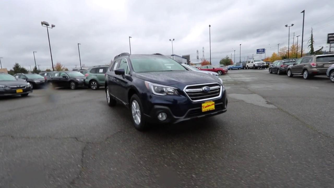 2018 Subaru Outback 2 5i Premium Dark Blue Pearl J3217960