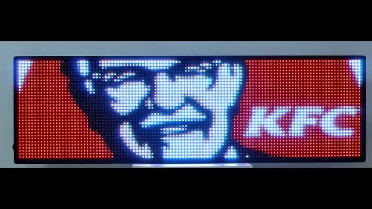 led sign full color led display size 19 x 53 programmable message