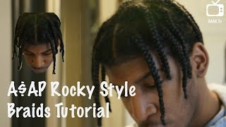 asap rocky braids   natural hair