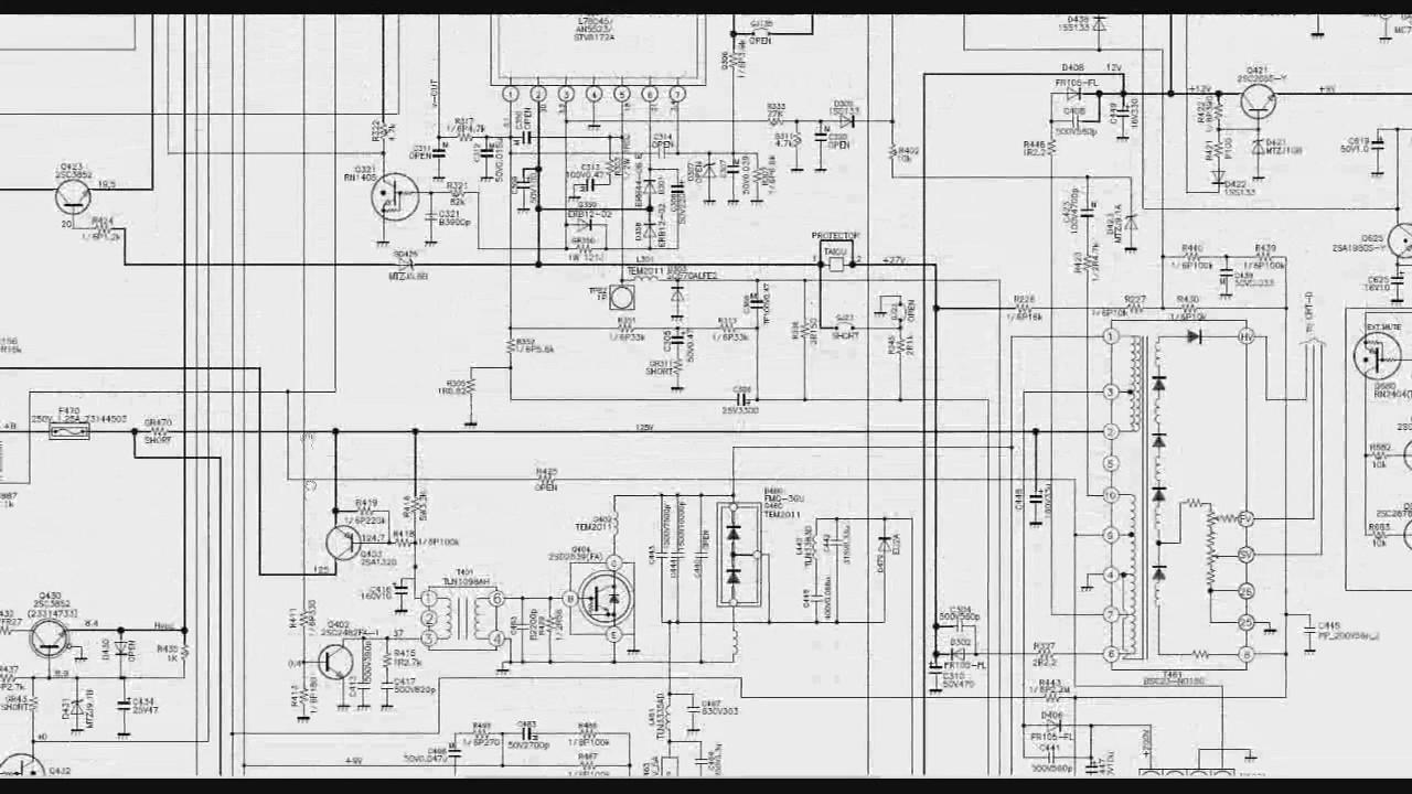 001 circuito horizontal da tv no esquema el u00e9trico