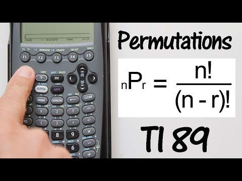 How To Do Permutations On The Ti 89 Calculator