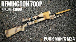 Remington 700 P .308 with Nikon FX 1000 Black | 1000 yard gun under $1000