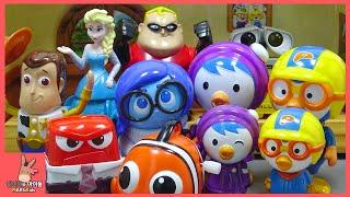 뽀로로 친구들! 엘사 공주님 인사이드아웃 슬픔이 웃겨주세요 ♡ 뽀로로 장난감 애니 Pororo Disney Inside Out Toys | 말이야와아이들 MariAndKids