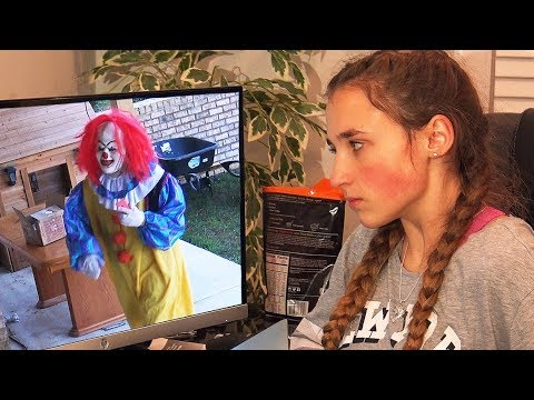 Scary Creepy Clown Takes My iPhone and Breaks it! Hurricane Update