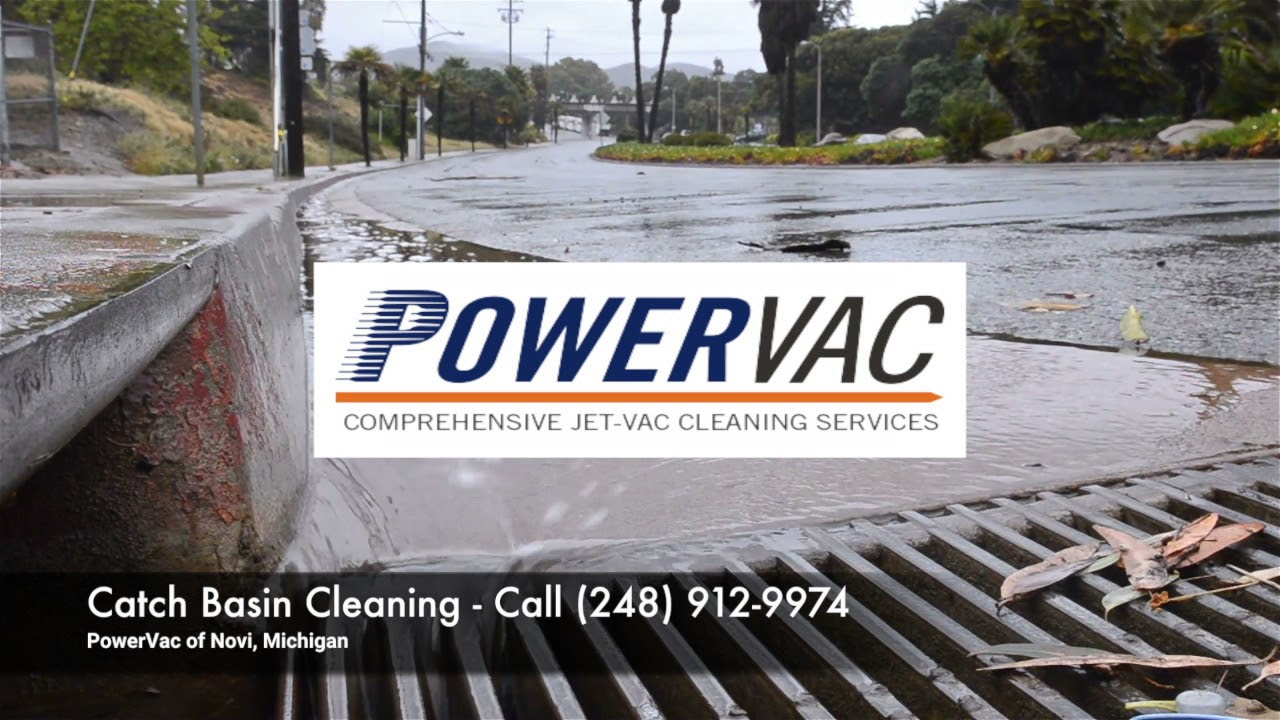 Powervac Of Michigan Catch Basin Cleaning Services Youtube