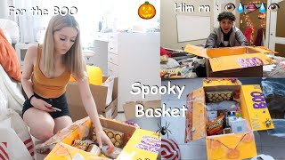 "Surprising my ""bOo"" with a Spooky basket .. jk  + Giveaway"