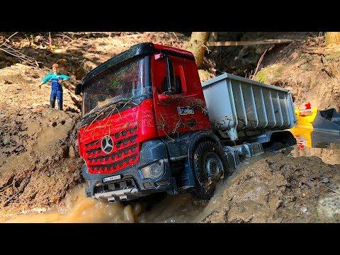 Construction TRUCKs for Kids | TRUCKs for children | BRUDER Toys in water!