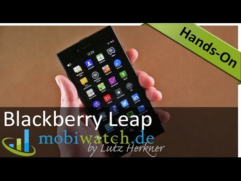 Hands-on-Video Blackberry Leap: Touchscreen-Schnäppchen – deutsch