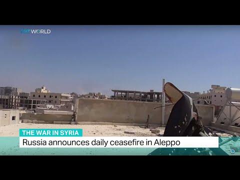 Russia announces daily ceasefire in Syria's Aleppo