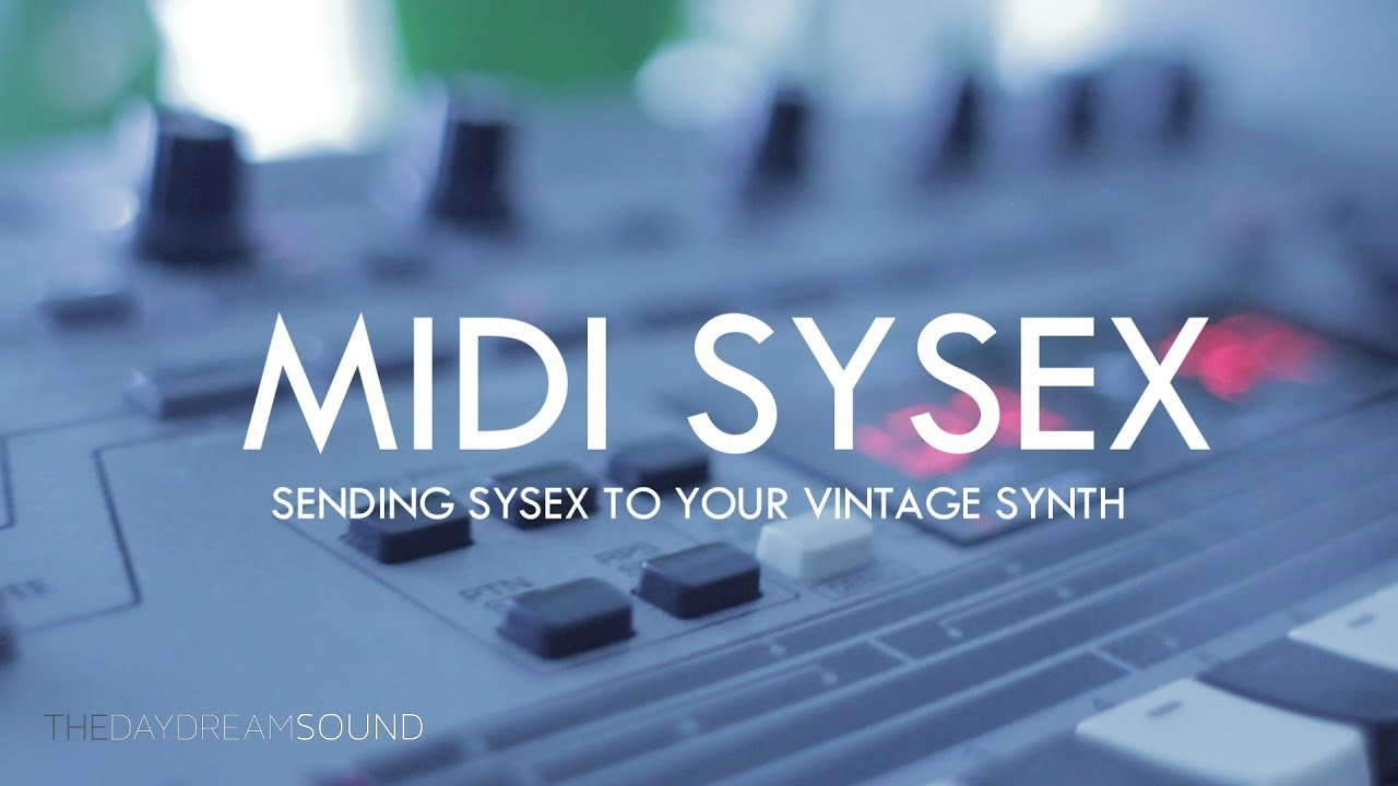 MIDI Sysex And Vintage Samplers - Why You Need To Use System Exclusive  Messages