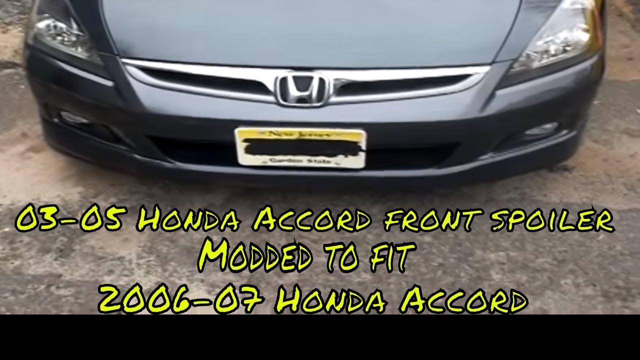 06 07 Honda Accord 4dr Front Lip Spoiler