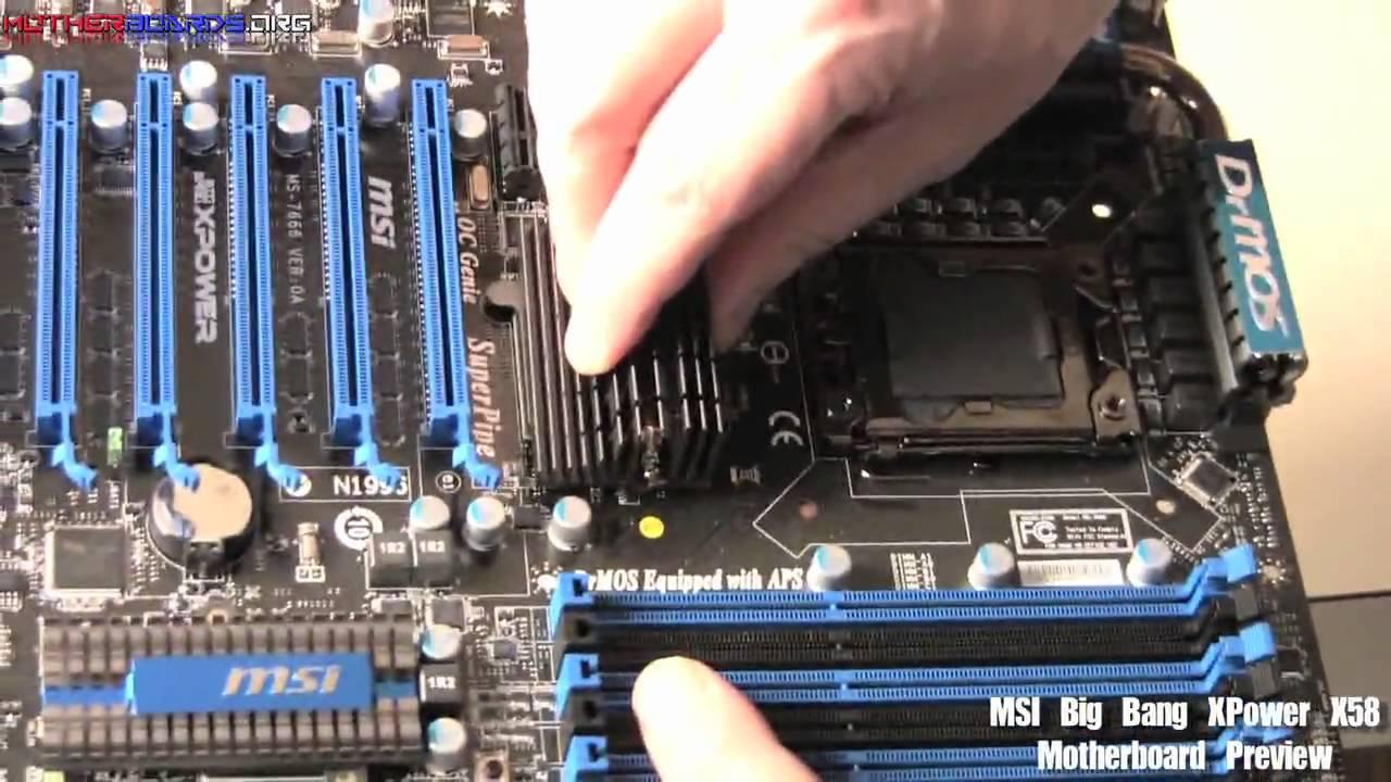 MSI Big Bang XPower X58 Motherboard Preview