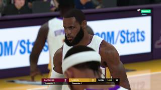 Lakers x Cavaliers - NBA 2K19 second simulation LeBron James