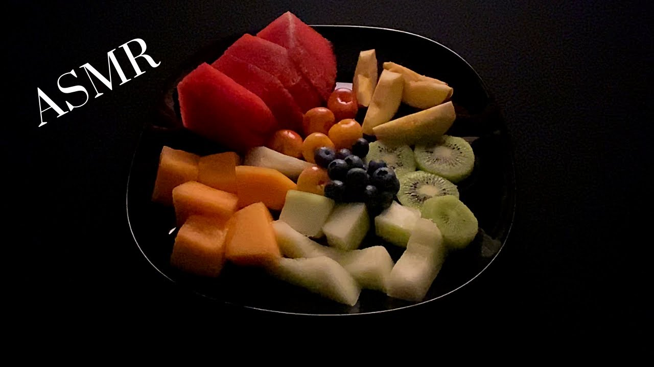 ASMR: EPIC FRUIT PLATE (UP CLOSE EATING SOUNDS) NO TALKING
