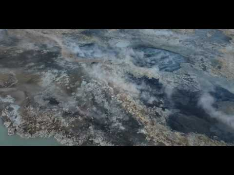 Geothermal activity in Rotorua by drone