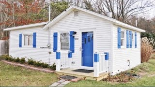Charming Tiny Blue Star Cottage In Michigan For Sale