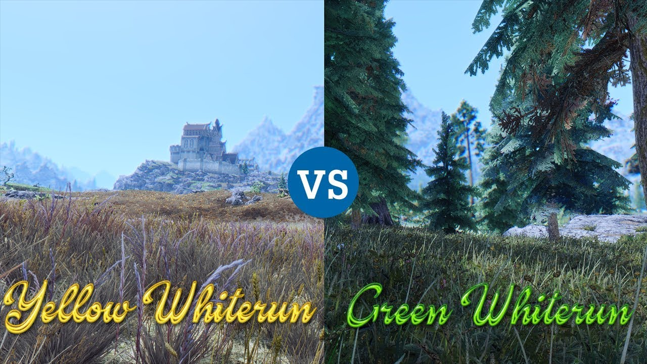 "Skyrim Showcase : ""Yellow Whiterun VS Green Whiterun"""