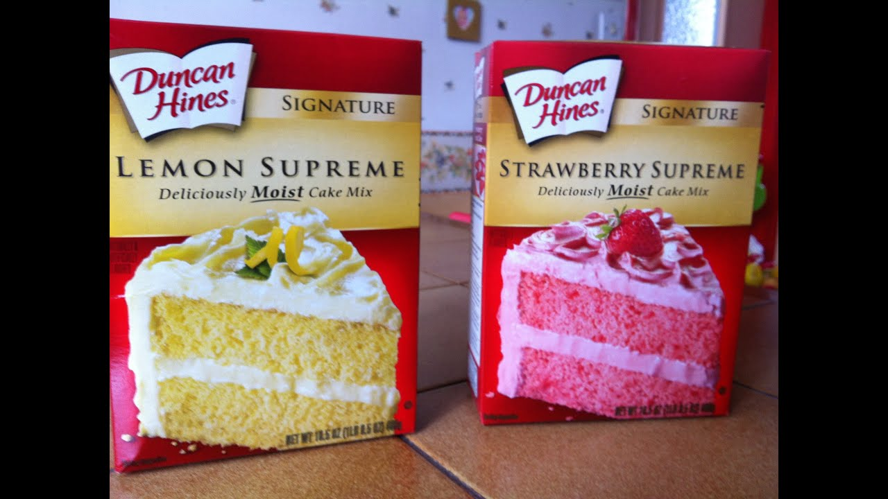 Duncan Hines French Vanilla Strawberry Cake