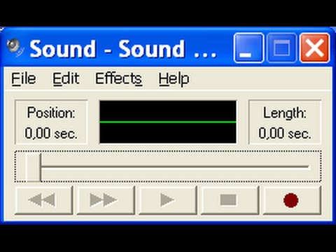 Not enough memory error when using windows xp 39 s sound for Window recorder