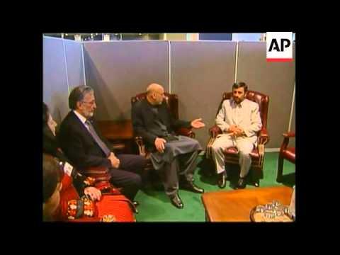 WRAP Italian PM Prodi photo op with Annan, Ahmadinejad meets Karzai