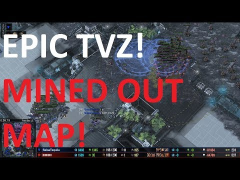 Starcraft 2 - MINED OUT MAP! - TvZ - UThermal Vs Bly On Para Site