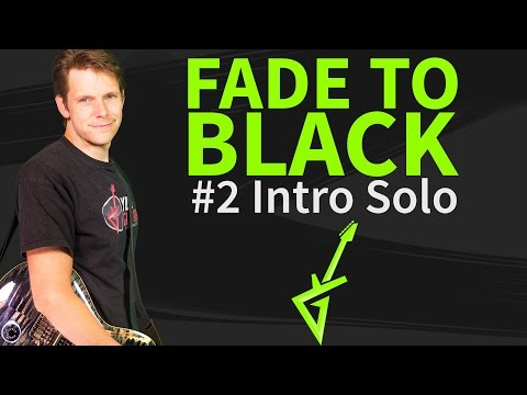 How To Play Fade to black Guitar Lesson #2 Intro Solo - Metallica Tutorial