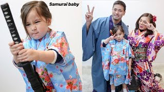 Scarlet Snow Belo and Mommy Daddy Wearing Traditional Japanese Kemono