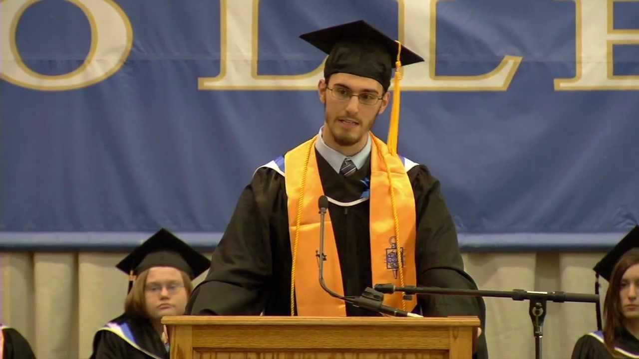 Aaronu0027s Singing Graduation Speech Landmark College