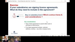 Oracle License contracts on parent vs subsidiary level – what is the difference?