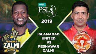 Match 21: Full Match Highlights Peshawar Zalmi vs Islamabad United   HBL PSL 4   HBL PSL 2019