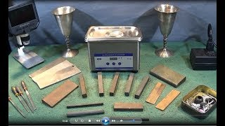 Ultrasonic Cleaner Cleaning Sharpening Stones & Other Small Items