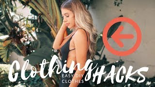 EASY DIY CLOTHES 2017 | How To Make A Wrap Skirt, Wrap Dress + Bralette