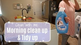 CLEAN WITH ME 2017// Morning time clean up and tidy up// motivation