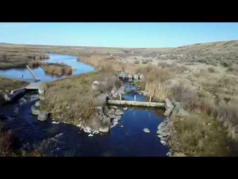 Lower Rocky Ford Creek Ephrata, Washington Drone Fly Over 1-22-2018