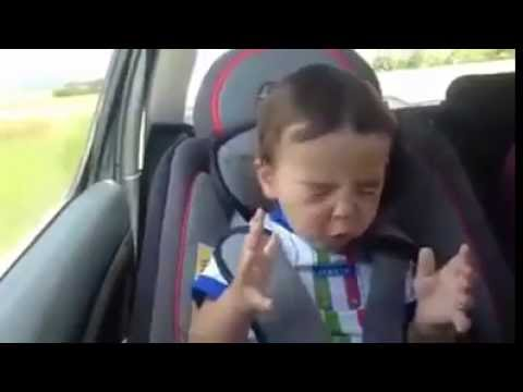 funny baby dance in the car - YouTube