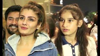 Raveena Tandon With Her Daughter Rasha Thadani At Mumbai Airport