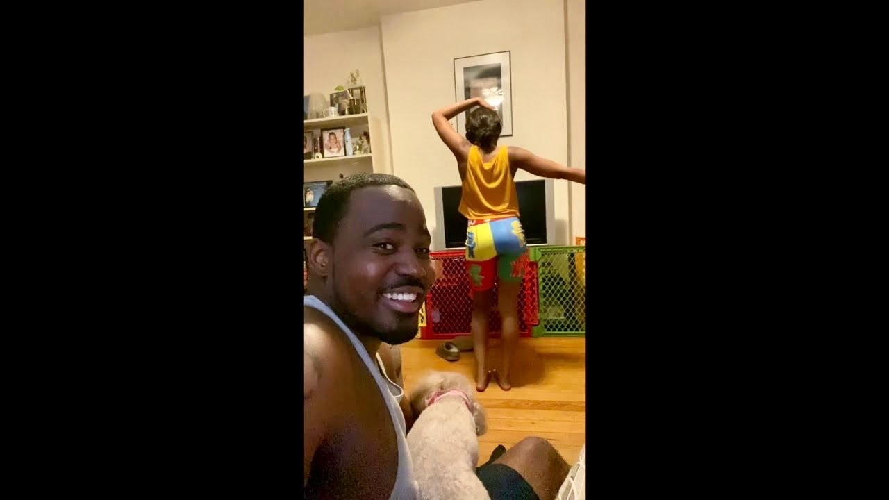"""Caught my girlfriend trying to do Beyoncé """"MY POWER"""" dance choreography, Hilarious! #BLACKISKING #SM"""