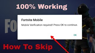 How to Skip Human Verification in FortNite Battle Royal in android