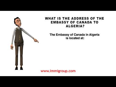 What Is The Address Of The Embassy Of Canada To Algeria?