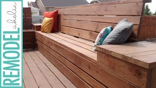 How To Build Space Saving Deck Benches For A Small Deck Youtube
