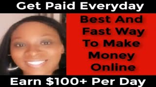Best And Fastest Way To Make Money Online Fast Easy Legit - Best Way To Make Money Online Fast 2019