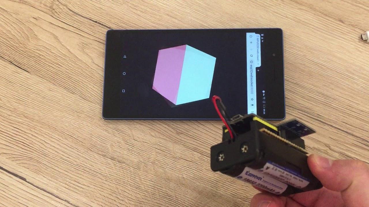 ESP32 + MPU9250: 3D orientation visualisation
