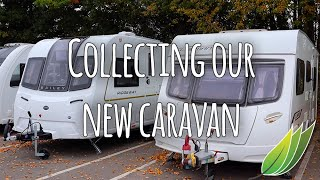 Collecting the caravan from the dealership