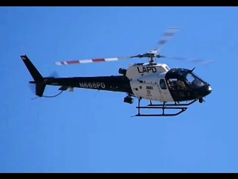 LAPD AS350 Helicopter Departing City Hall (Los Angeles Police Department -  Air Support Division)