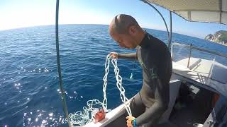 Freediving  - Dive line  knot