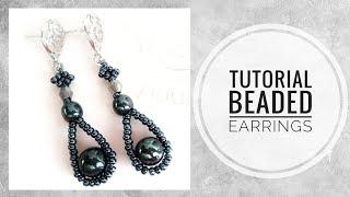 #МК - Серьги из бисера и гематитовых бусин | Earrings from beads and hematite beads