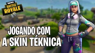 PLAYING WITH TEKNICA SKIN-16 kills (Fortnite Battle Royale Gameplay)