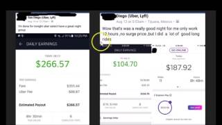 Making money with uber and lyft in August 2016
